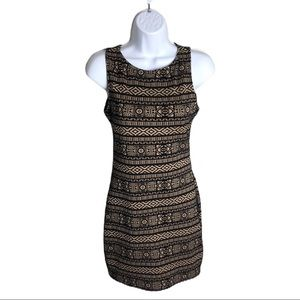 Forever 21 Black and Tan Dress Size S